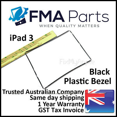 iPad 3 Black Bezel Plastic Middle Mid Frame Touch Screen Digitizer Replacement