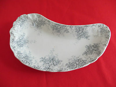 J & G Meakin / Hanley Bone / Side / Soap Dish Made in England