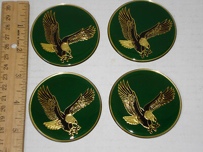 4 Usa American Eagle Soaring Flying 3D Domed Wheel Center Cap Emblem/sticker