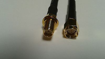 US MADE    BELDEN  SMA plug  TO  SMA  jack RG-58 coax cable 100 ft  50 ohm