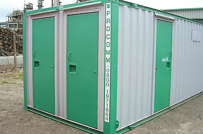 24'x9' Steel Welfare Unit. Complete with toilet.