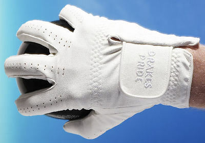 Drakes Pride Synthetic White RH Gents Medium Bowls Glove - from £7 each