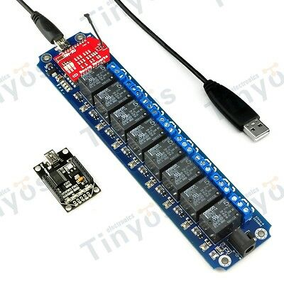 8 Channel USB/Wireless 5V Relay Module WIFI Remote Control Kit
