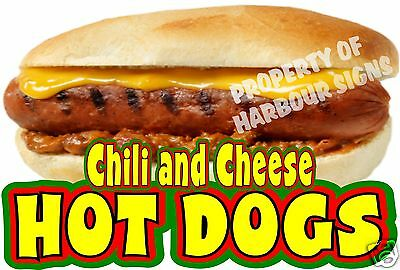 "Chili and Cheese Hot Dogs Decal 14"" Concession Food Truck Van Menu Vinyl Sticker"