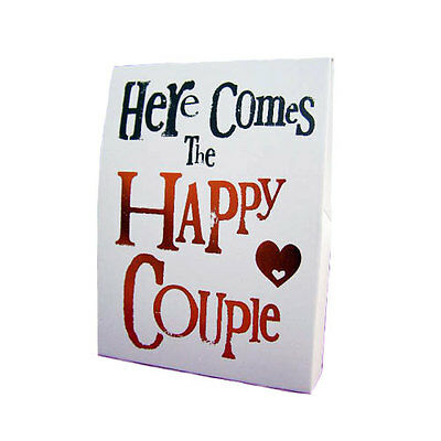 Bright Side Here Comes The Happy Couple Wedding Pink Heart Confetti Hen Gift