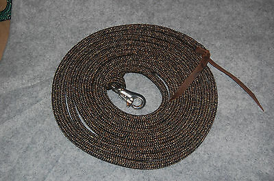 22' Longe Line Lead Rope With Loop & Ss Bull Snap For Parelli Training Method
