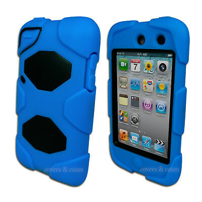 NEW Blue Tough Protective Heavy Duty Case for iPod Touch 4 4th Gen 4G Cover