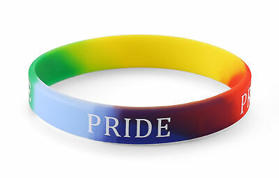 Gay Pride - (Various Quantities) Rainbow Silicone Wristband