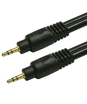 """100ft Premium 3.5mm 1/8"""" Aux Male to Male M/M Gold Plated Stereo Audio Cable"""