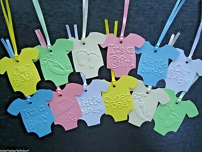 10 Gift Tags Baby Shower Favour Bomboniere Christening Baptism Birth
