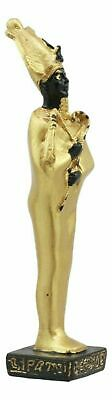 "Ancient Egyptian Decor Miniature Standing God Osiris Figurine Small Statue 3.5""h"