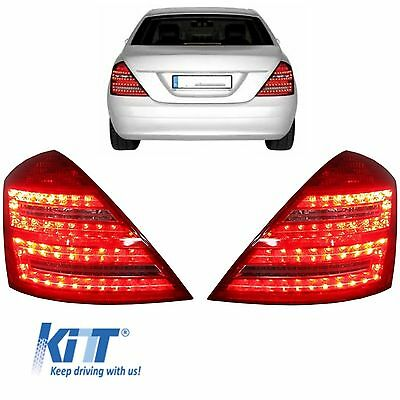 LED Taillight Mercedes S-Class W221 06-09 Facelift look Tail Lights Red/Clear