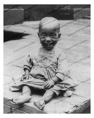 Pre-1910s era vintage photo-Adorable African American baby-8x10 in.