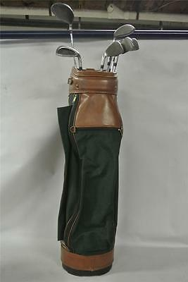 Gregory Paul Golf Bag MH 1913 w/ Lot of 8 Assorted Cougar Rhythm Golf Clubs