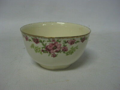 Vintage Alfred Meakin England, ROSECLIFFE Berry Bowl,18K Gold Rim