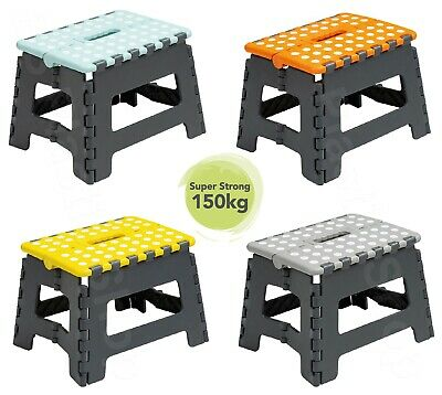 Folding Step Stool Foldable Plastic Multi Purpose Stool 39 cm and 22 cm Home New