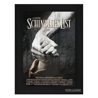 SCHINDLERS LIST Framed Film Movie Poster A4 Black Frame