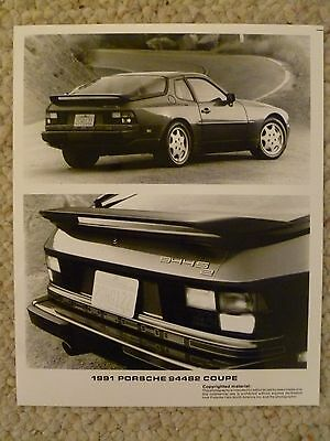 1991 Porsche 944 S2 Coupe B&W Photo Factory Issued RARE! Awesome L@@K