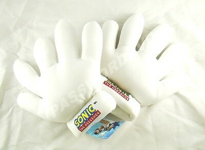 ** GLOVES SONIC TAILS WHITE HANDS PLUSH 2 PCS GENUINE LICENSED PRODUCT **8805