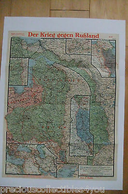 Paasches´s Wwi Ww1 Map Western Front Italy Belgium Verdun Russia Eastern # 9