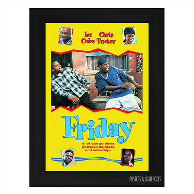 FRIDAY Framed Film Movie Poster A4 Black Frame
