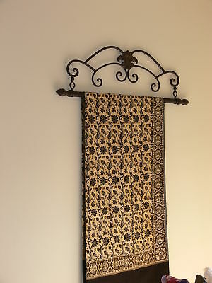 Antique style tapestry holder frame black  wrought iron large NEW   104CM WIDE