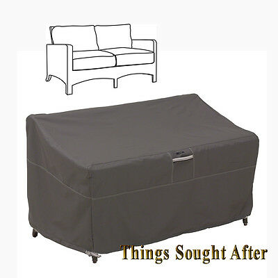 COVER for SMALL PATIO LOVESEAT Outdoor Sofa Furniture Love Seat Storage RAVENNA