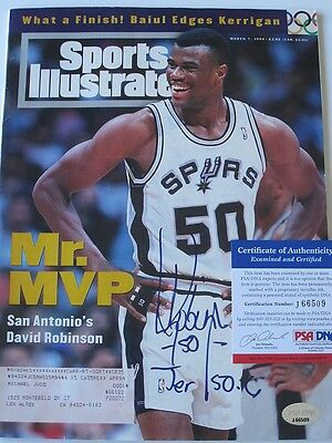 David Robinson signed Sports Illustrated autographed Spurs PSA J66509