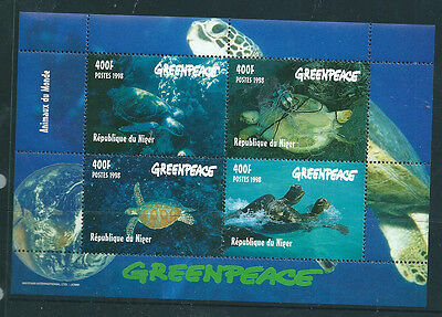 Republic du Niger 1998 Greenpeace Turtles mini sheet unmounted mint