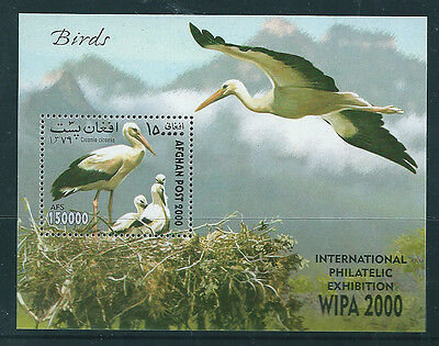 Afghanistan WIPA 2000 Birds Minisheet mini sheet unmounted mint.
