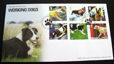 GB 2008 Working Dogs set on unaddressed official first day cover