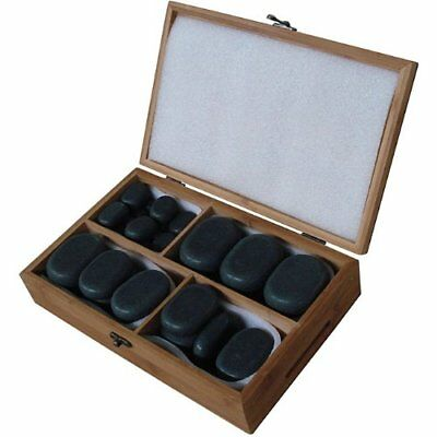 Sivan Health and Fitness Basalt Lava Hot Stone Massage Kit with 36 Pieces