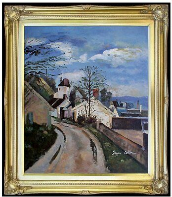 Framed, Paul Cezanne House of Dr. Gachet Repro Hand Painted Oil Painting 20x24in