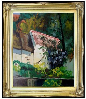 Framed, Paul Cezanne House of Lacroix Repro, Hand Painted Oil Painting 20x24in