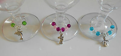 Choice Of Small Medium Or Large Silver Plated Wine Glass Charm Hoops / Earrings