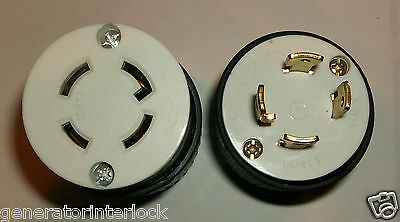 Generator 30 Amp cord ends L14-30 Male and Female ends