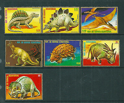 Equatorial Guinea 1978 Prehistoric Animals set of 7 unmounted mint.
