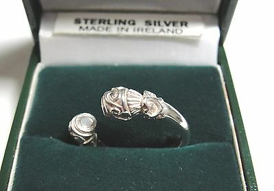 Irish Sterling Silver Celtic Torc Ring Antique Reproduction Made In Ireland