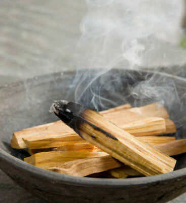 6 x REAL PALO SANTO HOLY WOOD STICKS SACRED TREE SMUDGE SMUDGING BANISH EVIL ETC