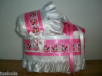 Baby Minnie Mouse Girl Diaper Bassinet Baby Shower Centerpiece Table Decoration