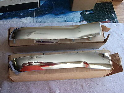1956 Chevy NOS Hood Bar Extensions, pair; GM Part #'s 3721987 and 3721988