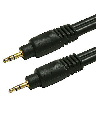 """35ft Premium 3.5mm 1/8"""" Aux Male to Male M/M Gold Auxiliary Stereo Audio Cable"""