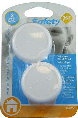 Safety 1st 2 Pack Shortens & Stores Window Blind Cord Wind Up Shortener - 72317