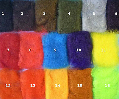 ANGORA GOAT DUBBING -- Perfect Seal Subsitute Fly Tying Dub