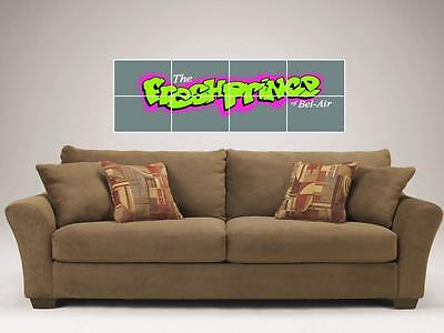 "The Fresh Prince Of Bel-Air Mosaic 48""X16"" Inch Tile Wall Poster Will Smith"
