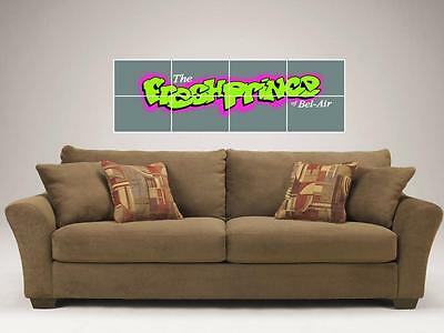 """The Fresh Prince Of Bel-Air Mosaic 48""""x16"""" Inch Tile Wall Poster Will Smith"""
