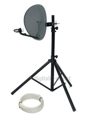 Satellite TV Tripod + 43cm Sky Dish for Caravan Camping Portable Reception  NEW