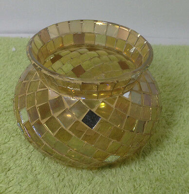 Party Lite Fusion Mosiac Jar Candle Holder -- VERY NICE