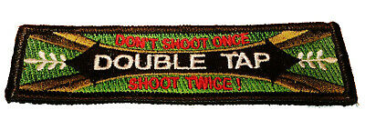 Double Tap Don't Shoot Once, Shoot Twice Tactical Hook/loop Morale Patch