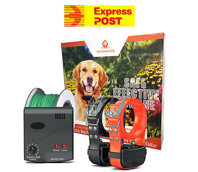 Waterproof electric dog fence system fencing 2 collar hidden pet containment new